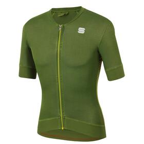 Sportful Monocrom Koszulka rowerowa z zamkiem błyskawicznym Mężczyźni, dry green